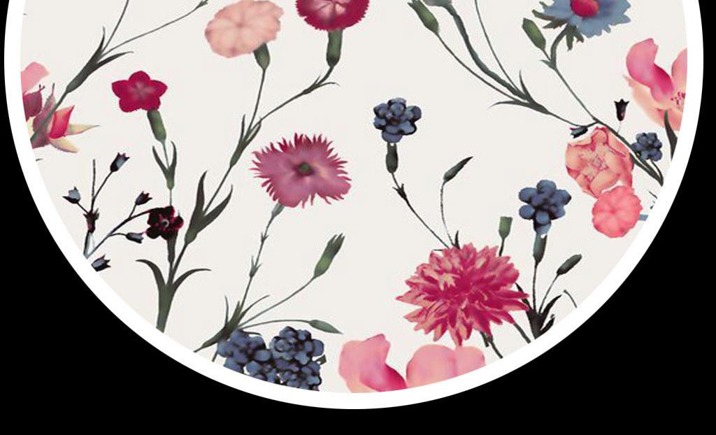 清新花朵手绘玫瑰绿叶手绘花朵手绘清新小清新绿叶