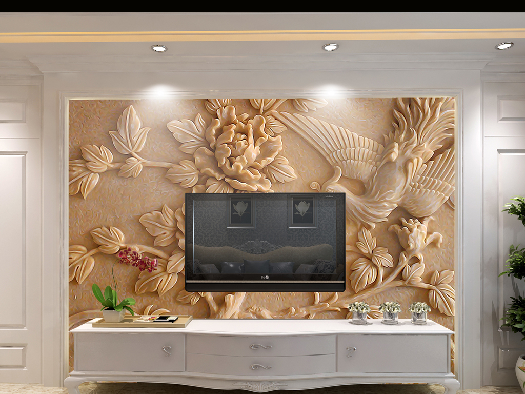 浮雕背景墙客厅背景墙背景墙设计木雕电视背景木雕背景电视装饰画