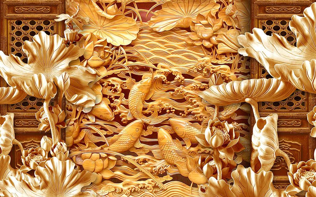 中式花纹中式花窗中式花窗模型中式窗中式木雕图案