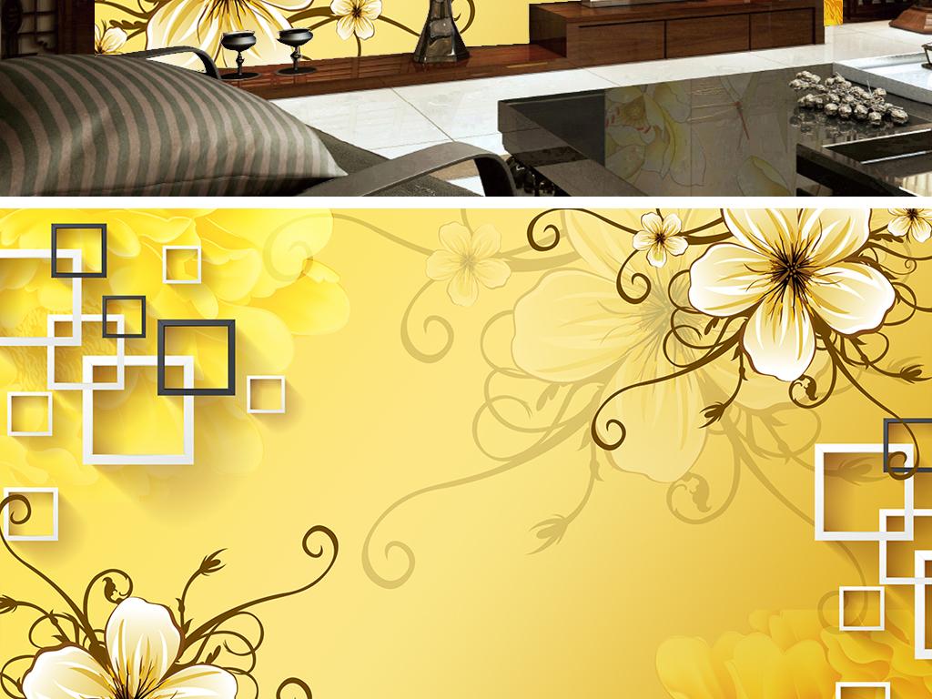 欧式花朵3d方框玫瑰花藤
