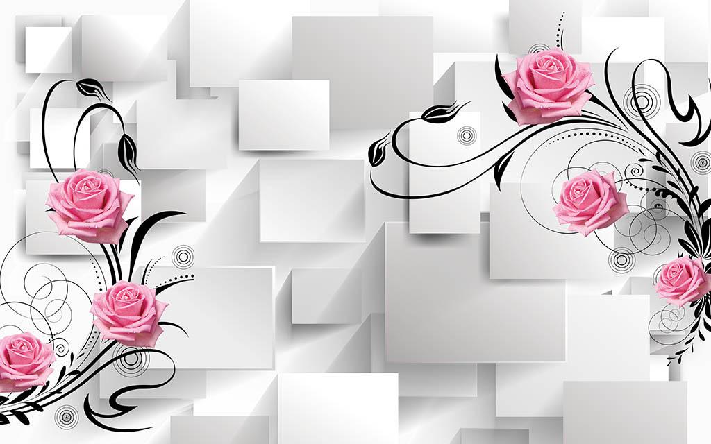背景花朵花卉花朵花卉背景梦幻花卉手绘花卉线描花卉白描花卉花卉油画