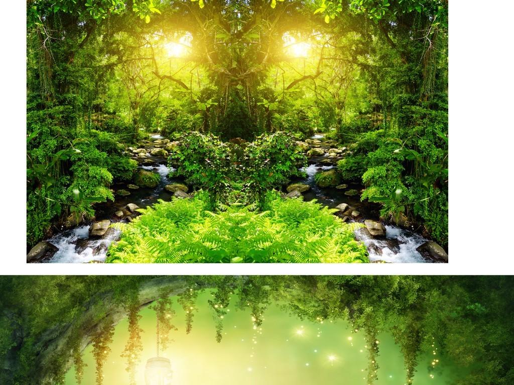 文艺森系手绘绿色叶子