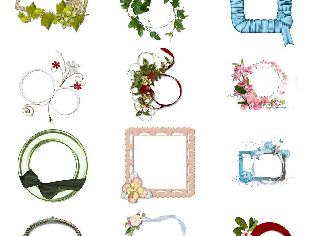 精美花边边框免抠png透明素材系列4