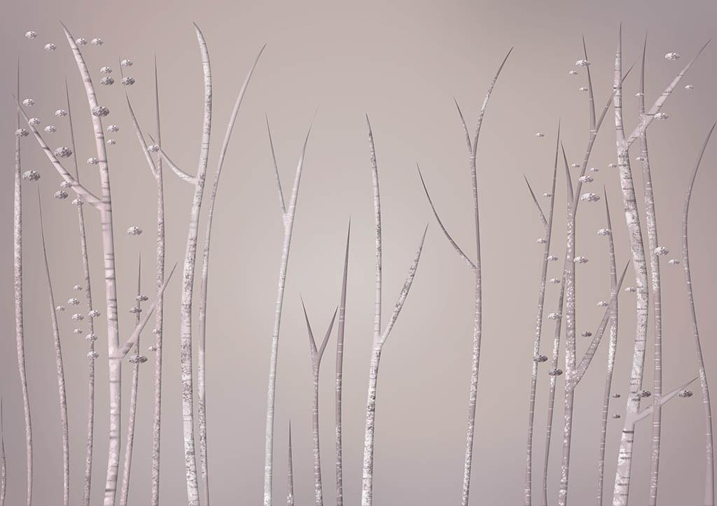 手绘树                                  工笔画北欧风