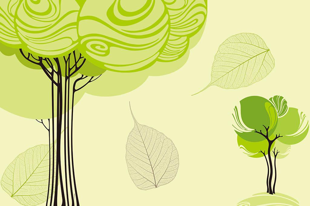 背景卡通树现代背景背景卡通许愿树手绘树香蕉树抽象树成长树树简笔画