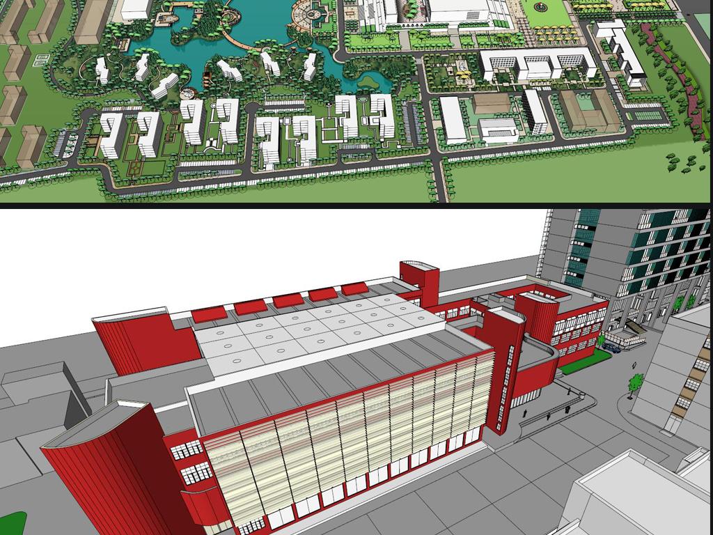 大学规划学校单体校园景观建筑设计