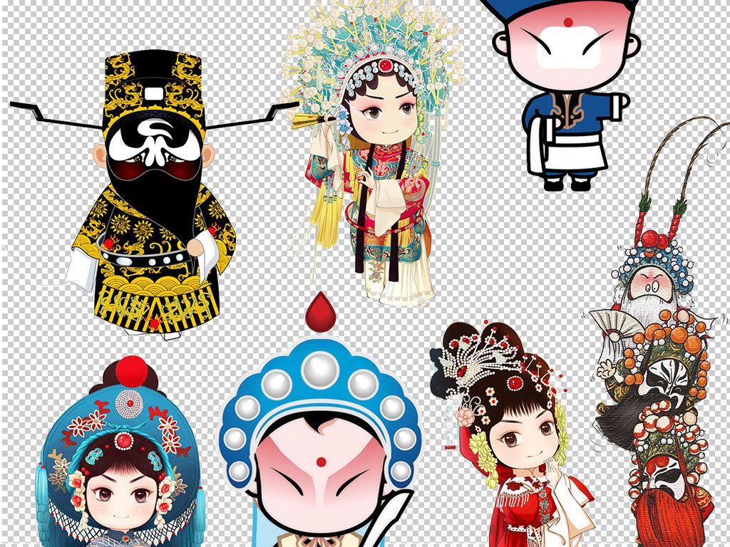 京剧脸谱卡通猴子动漫人物京剧花旦青衣老旦包拯刘备