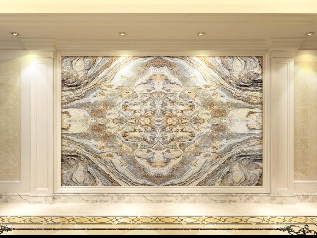 欧式复古石纹石材纹理拼花客厅大