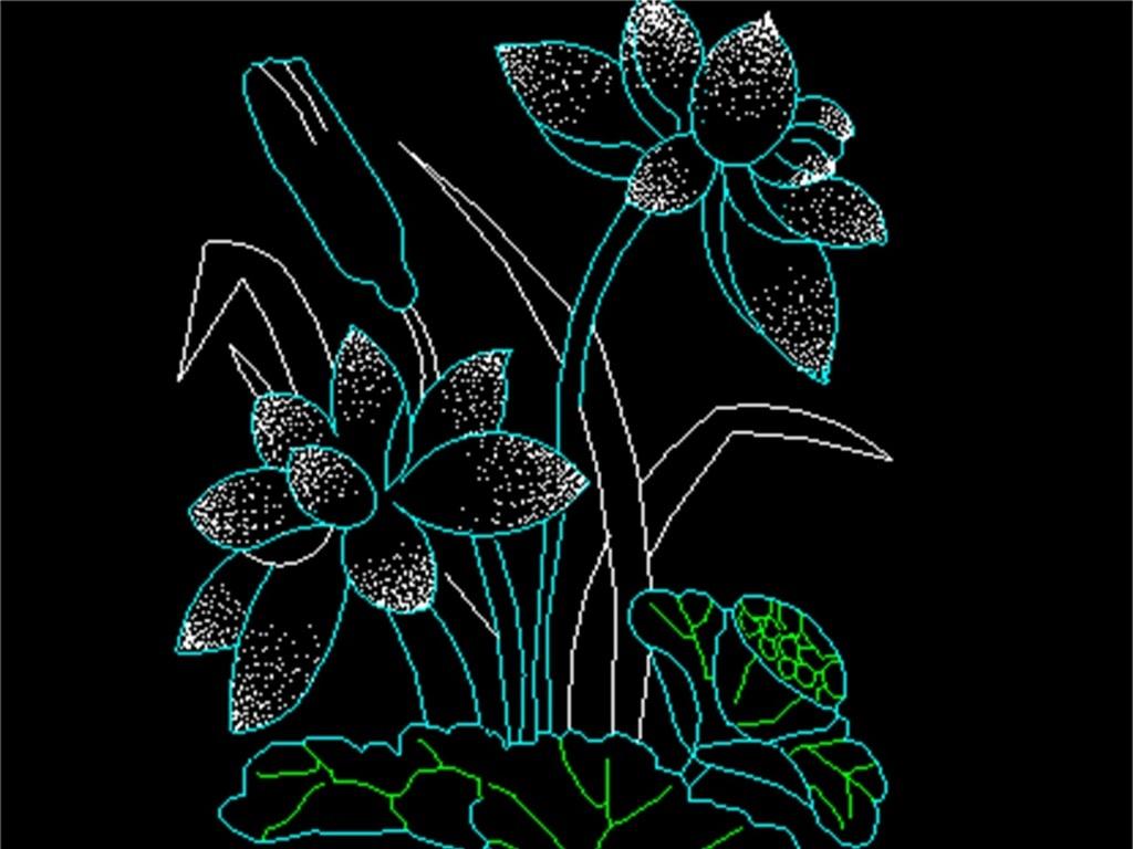 图花卉植物园林植物cad素材植物cad平面图植物景观cad植物立面cad图库