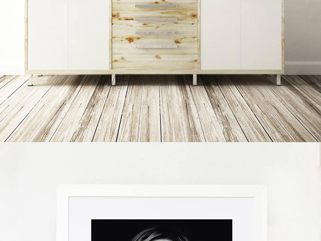 超现实幻想瀑布黑白抽象艺术装饰画