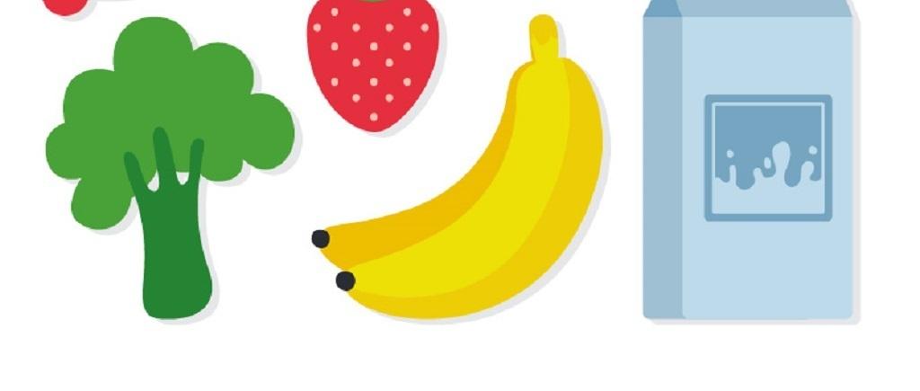 健康食材手绘矢量图