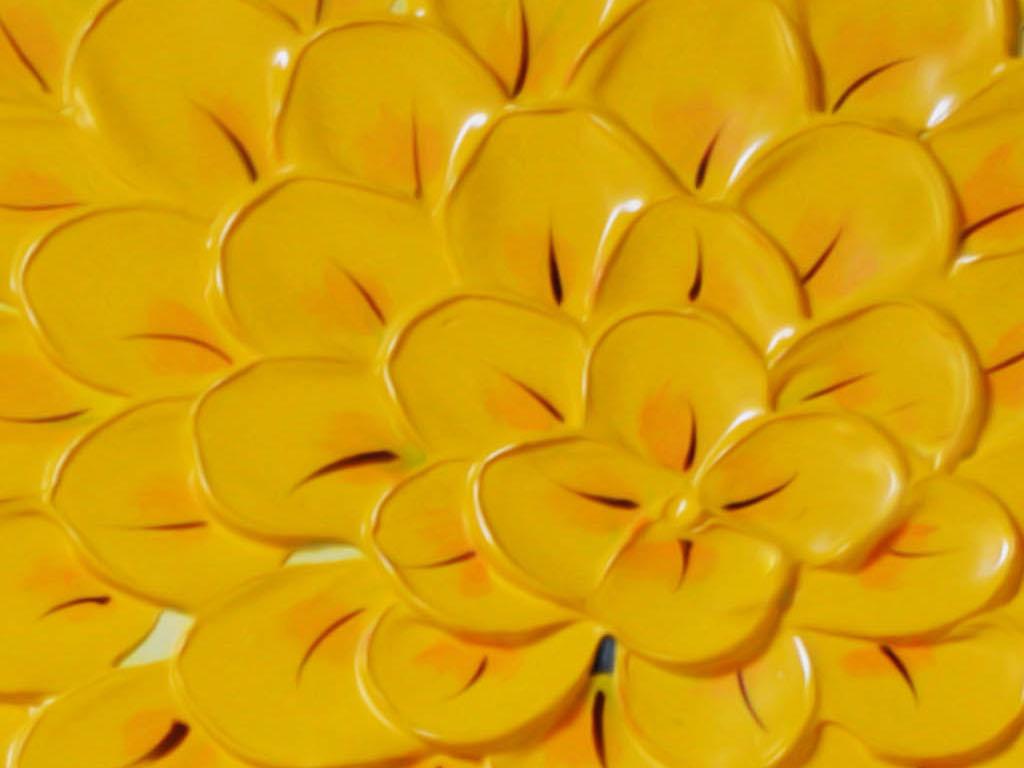 背景墙 装饰画 玄关 油画 立体油画玄关 > 超清艺术黄色艺术发财树
