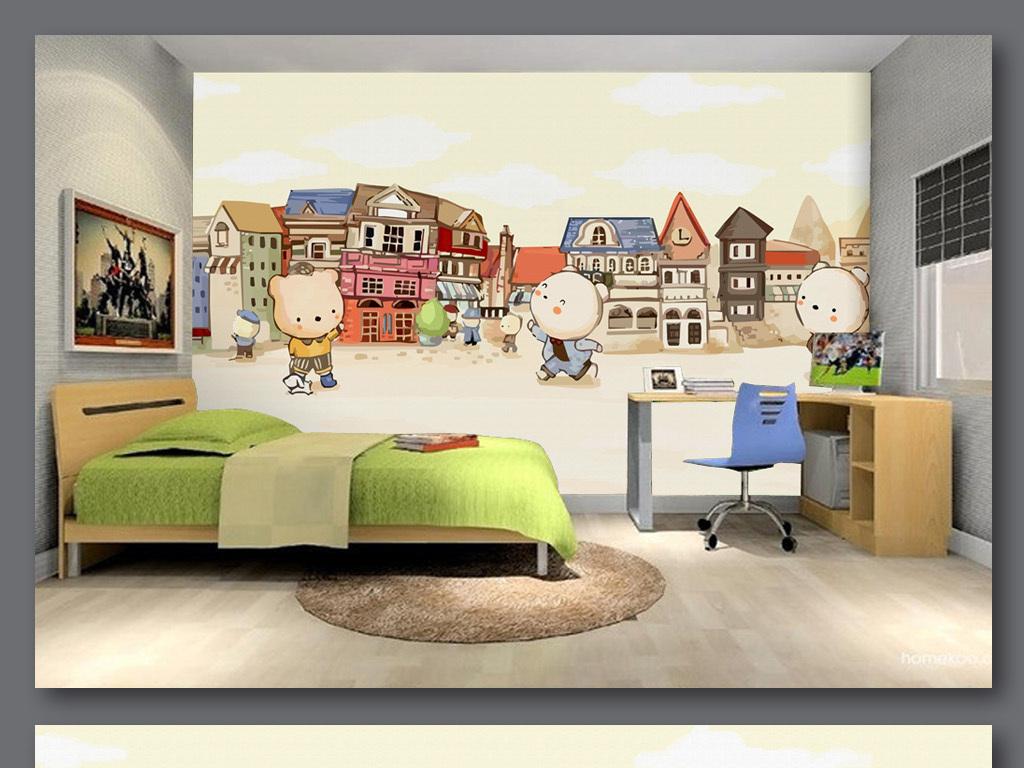 室内家居儿童手绘