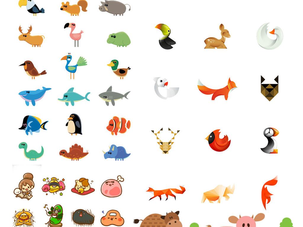 可爱卡通动物素材