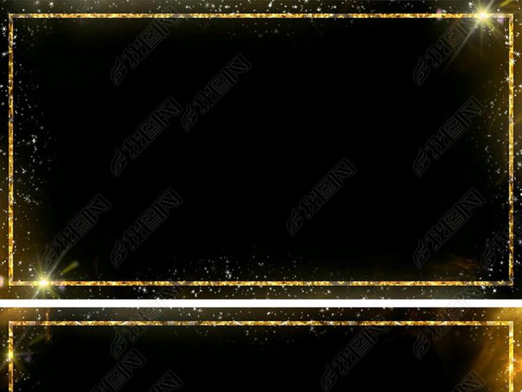 带通道金色粒子边框视频
