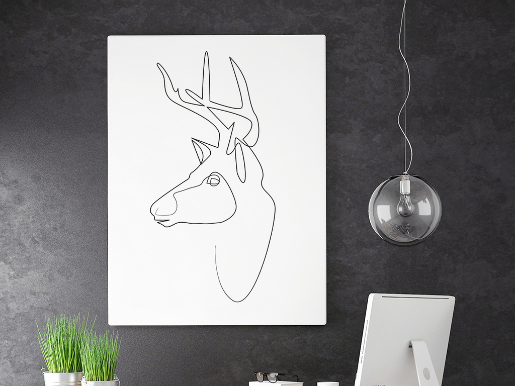 抽象黑白画