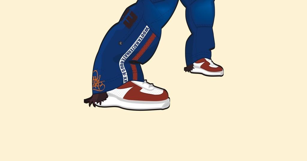 欧美插画涂鸦图案矢量人物舞者前卫街头男孩