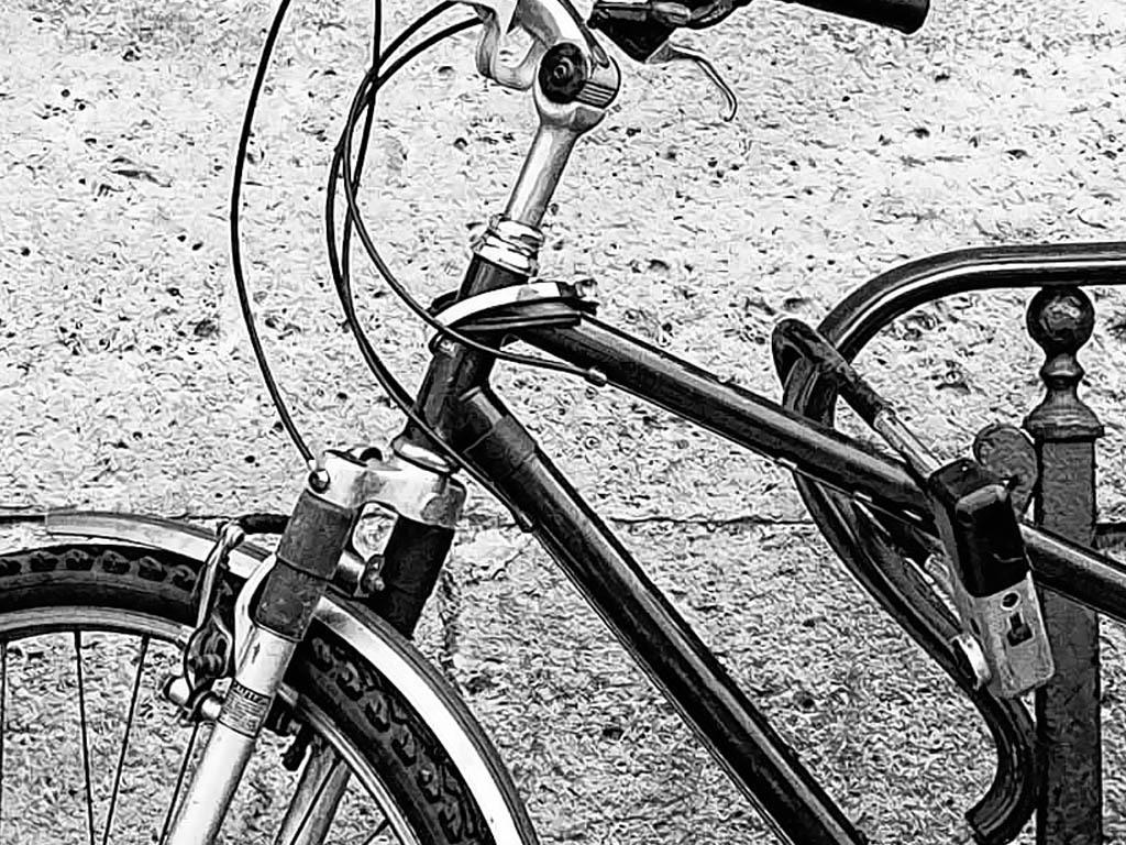 高清复古自行车墙黑白装饰画壁画