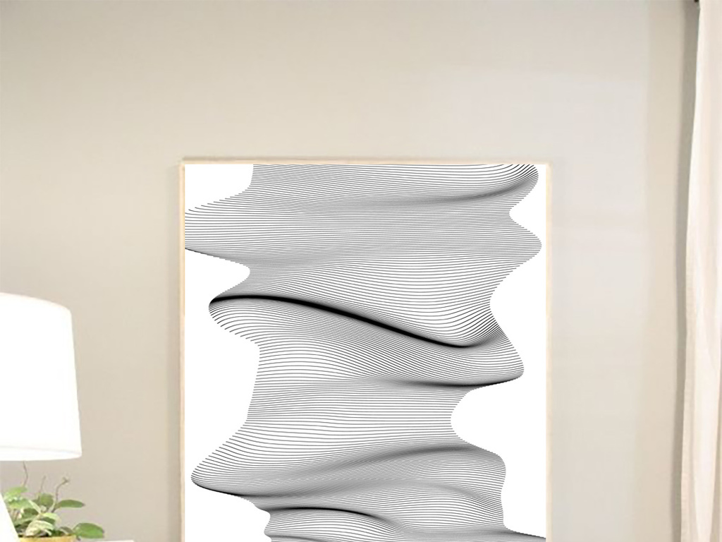 3d立体手绘线条抽象骨架画多维基因装饰画