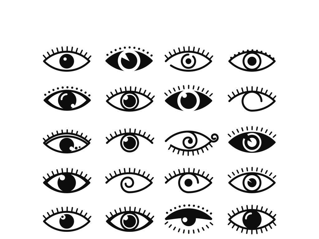 眼睛矢量素材眼睛图标