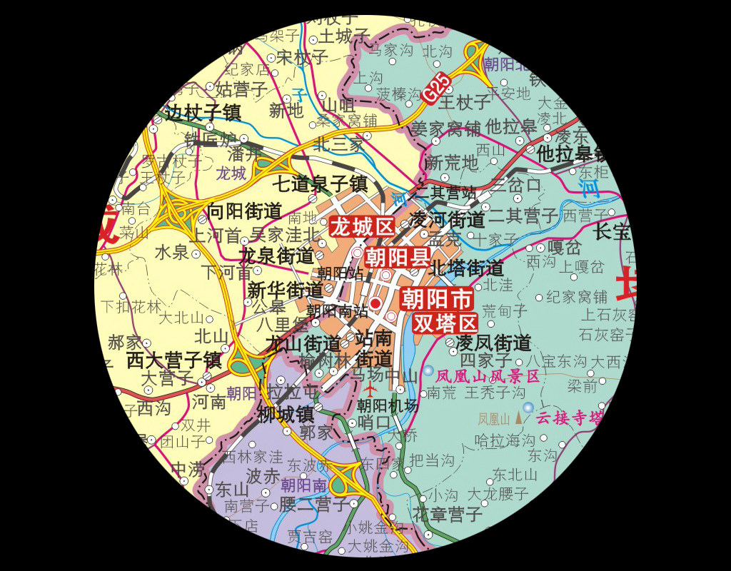 朝阳市地图超清大图