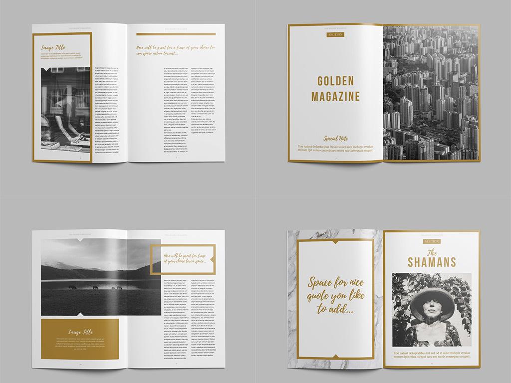 高档画册欧美杂志杂志排版广告图片