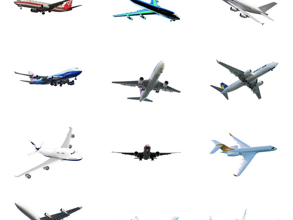 客运飞机免抠图png素材图片