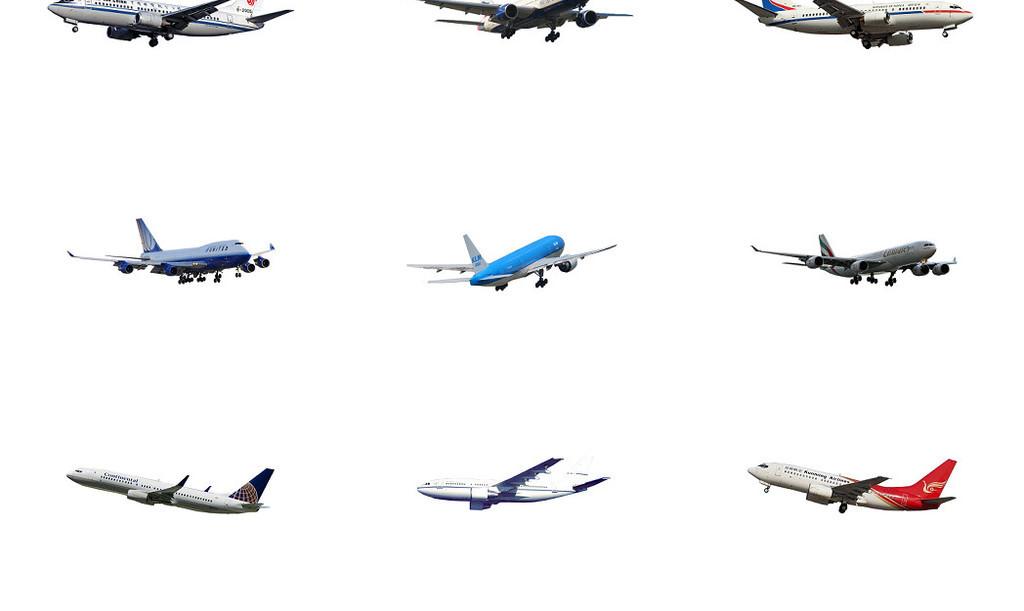 飞机免抠图png素材图片 位图, rgb格式高清大图,使用软件为 photoshop