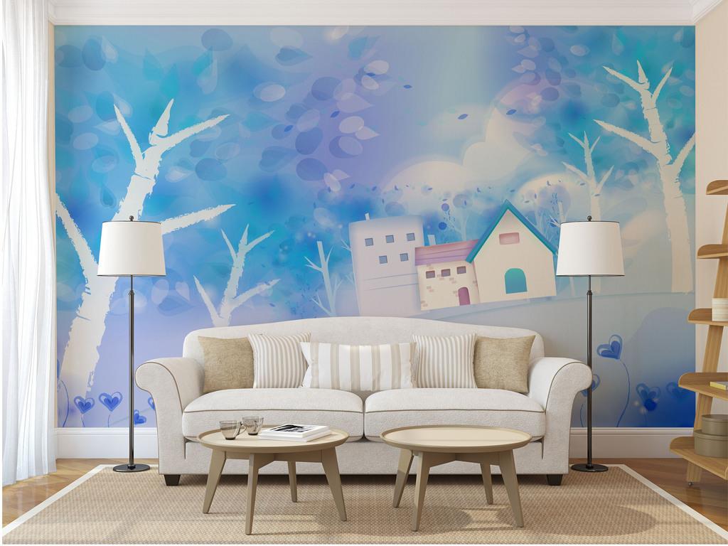 客厅背景墙壁背景墙壁3d电视背景墙艺术玻璃电视背景墙中式背景墙手绘