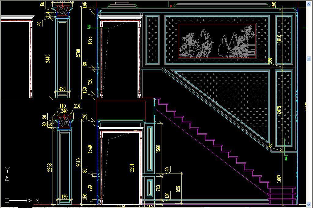 实木欧式法式平面图立面图深化墙板图库吊顶酒柜书柜