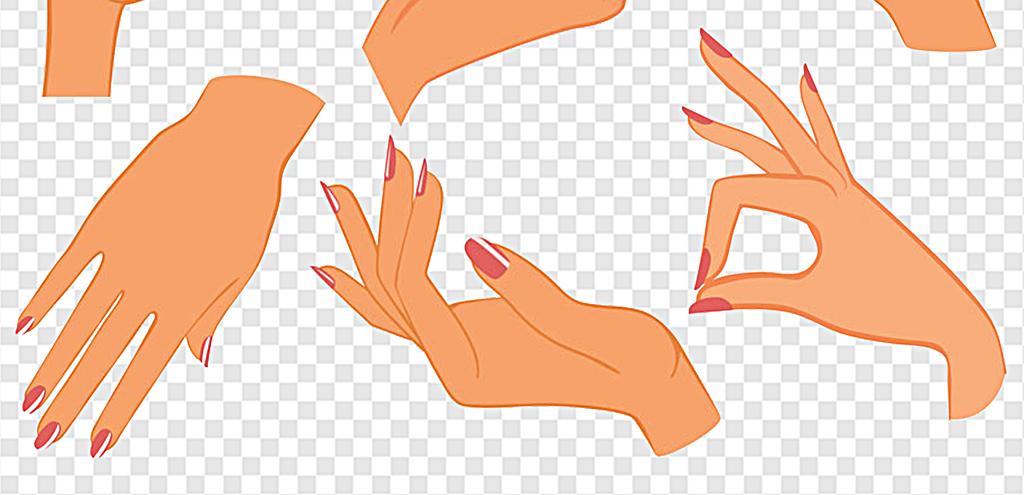 女人手绘女人手矢量图卡通女人手伸出右手的女人手一