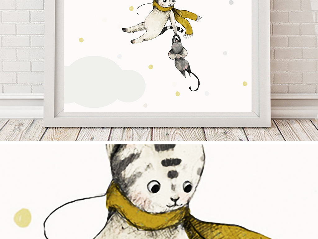 手绘猫简约手绘手绘简约小清新手绘手绘背景手绘墙手绘背景墙手绘花鸟