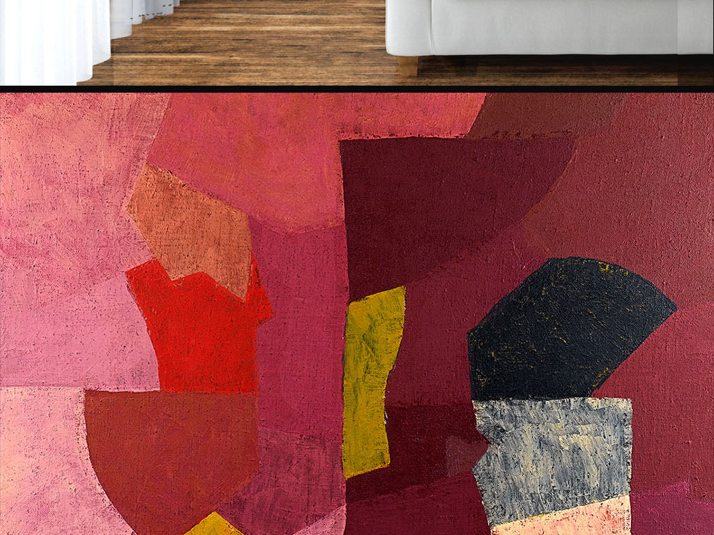 室内单体手绘地毯