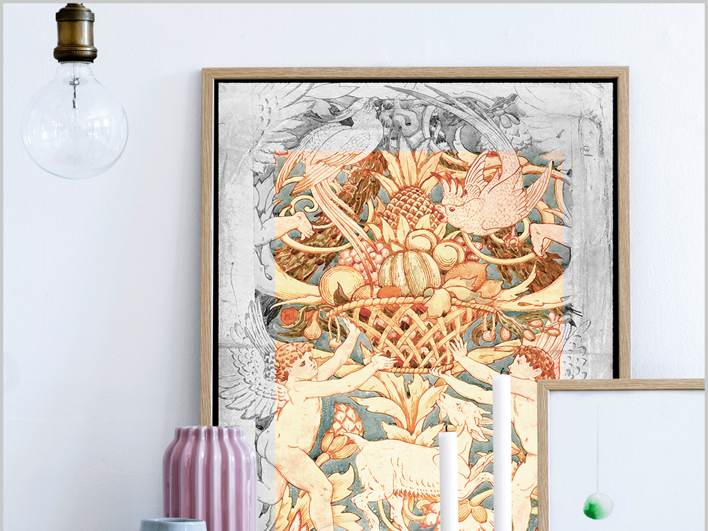 手绘欧式油画天使装饰画水彩画