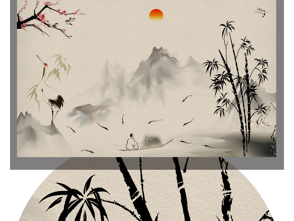 图仙鹤图片仙鹤的图片国画仙鹤水墨仙鹤仙鹤山水画