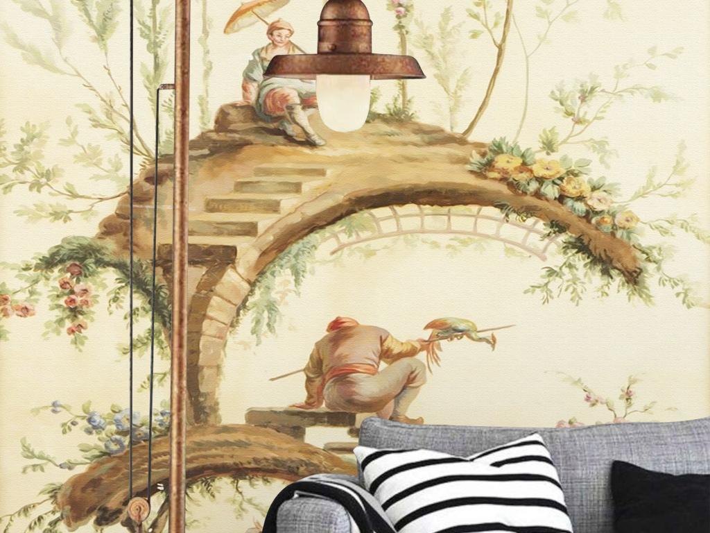 手绘背景墙大型壁画