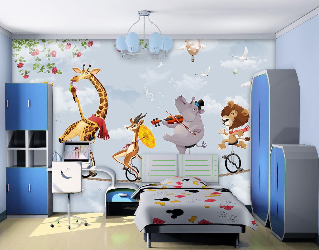 卡通卡通动物背景动物背景背景动物手绘人物手绘背景手绘墙手绘背景墙
