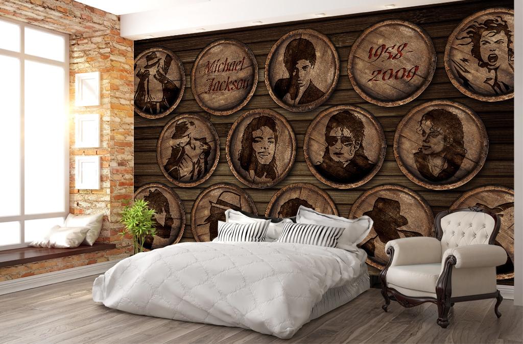 橡木桶木桶酒桶酒庄木纹木板明星复古背景迈克杰克逊