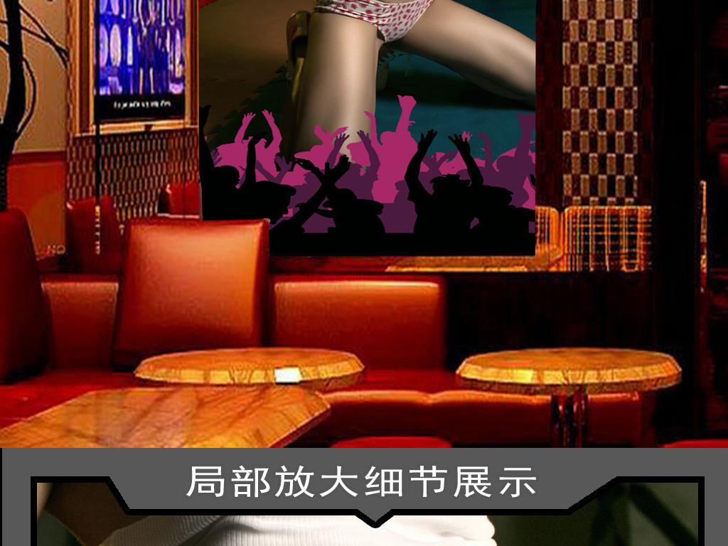 性感美女夜店酒吧工装玄关