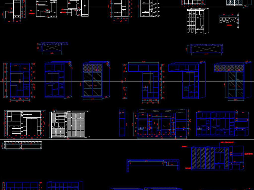立面设计图纸柜子设计柜子施工图cad公园设计平面图