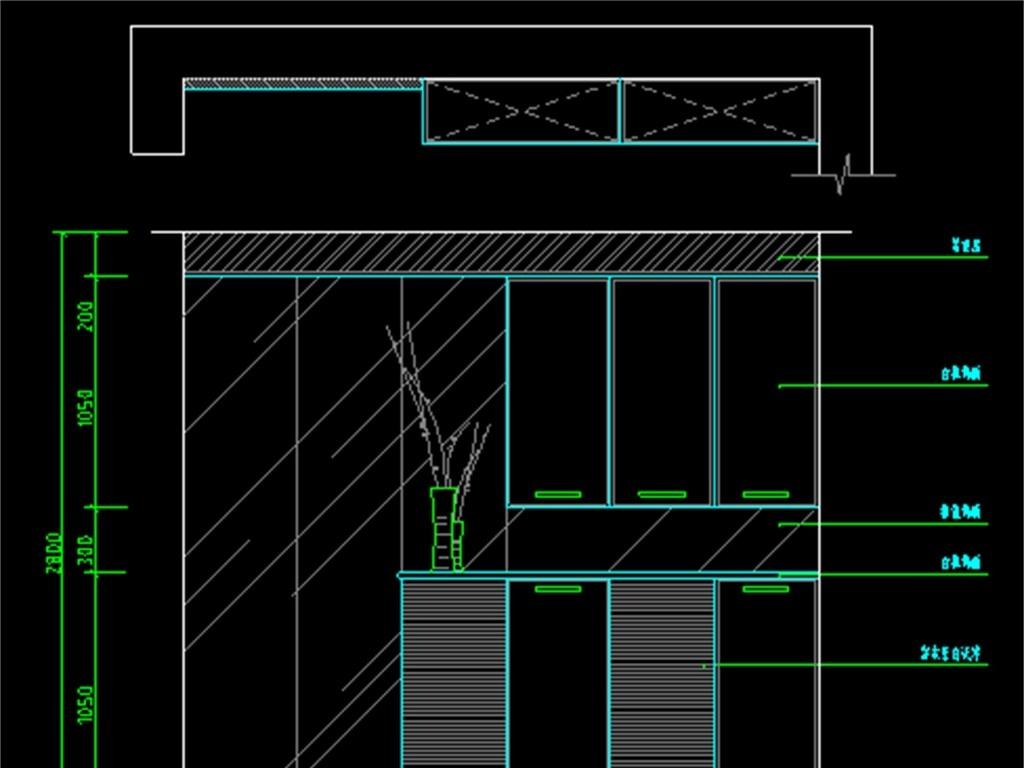 家具电视柜cad柜子鞋柜立面图家具平面家具cad室内家具设计图设计图
