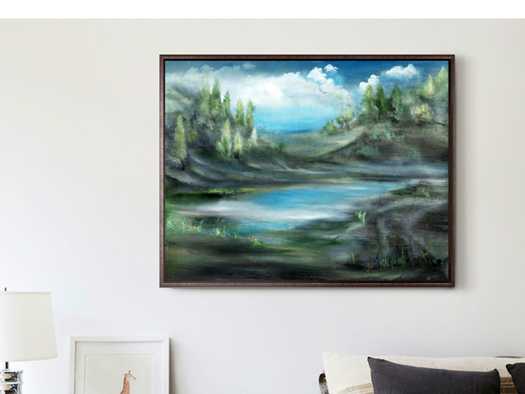 室内手绘线描单体电视