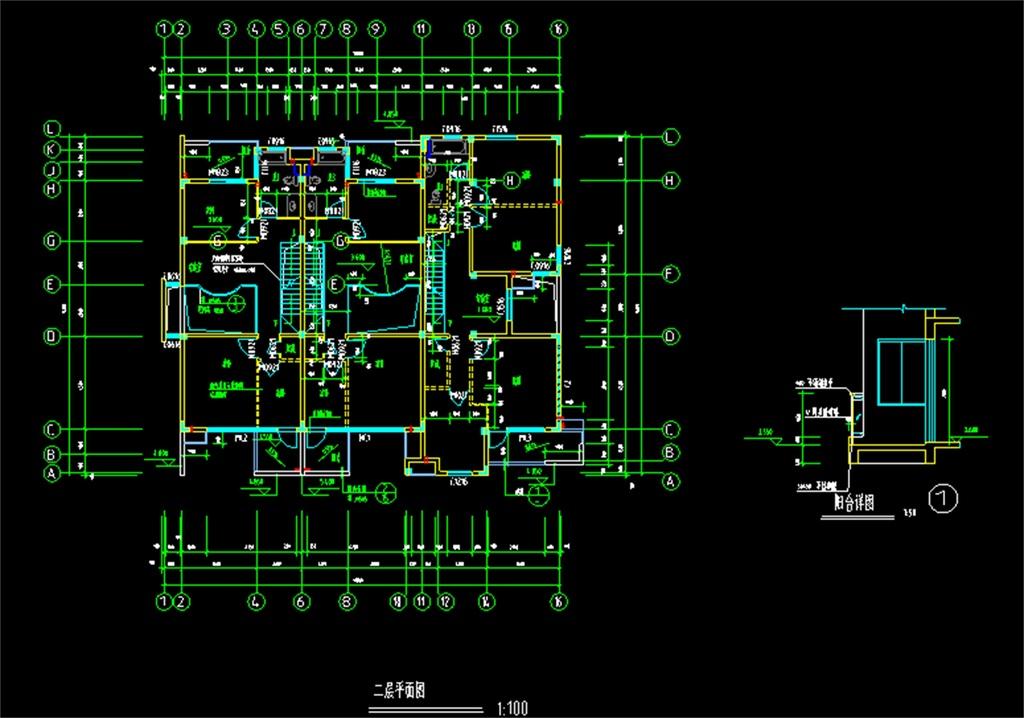 现代住宅cad建筑施工图(图片编号:16034604)