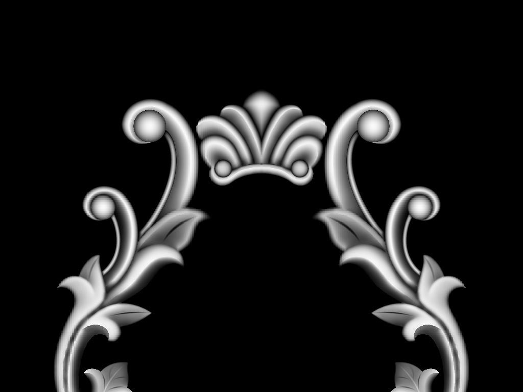 门花木雕欧式洋花门花设计素材门花模板杨花