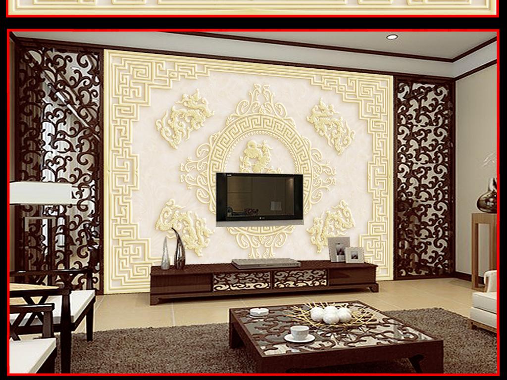 中式背景电视装饰画墙装饰画古典美女古典边框古典底纹古典背景古典图片