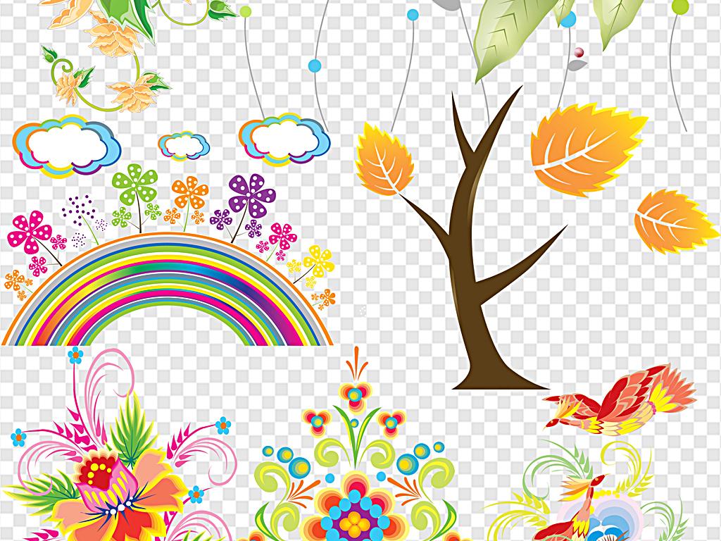 花纹系列花纹图案边角花纹创意花朵