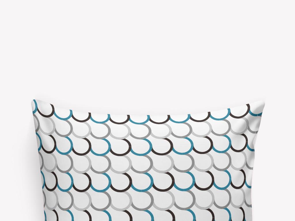 黑白线条抱枕图案