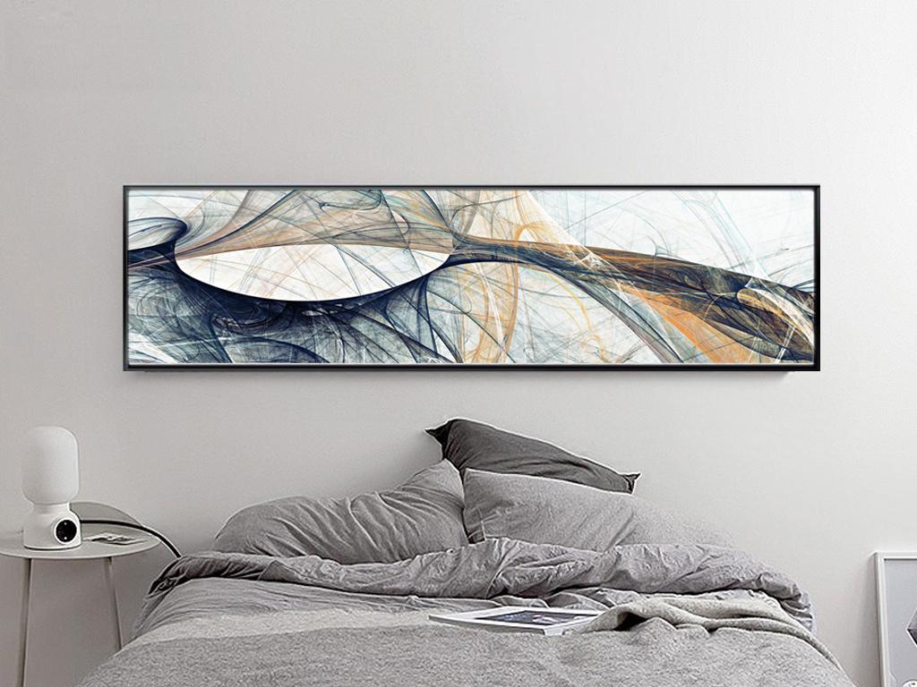 交错抽象装饰画床头画