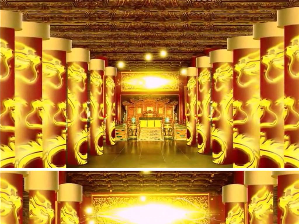 视频素材 背景视频 动态|特效|背景 > 古代皇宫室内中国风晚会视频