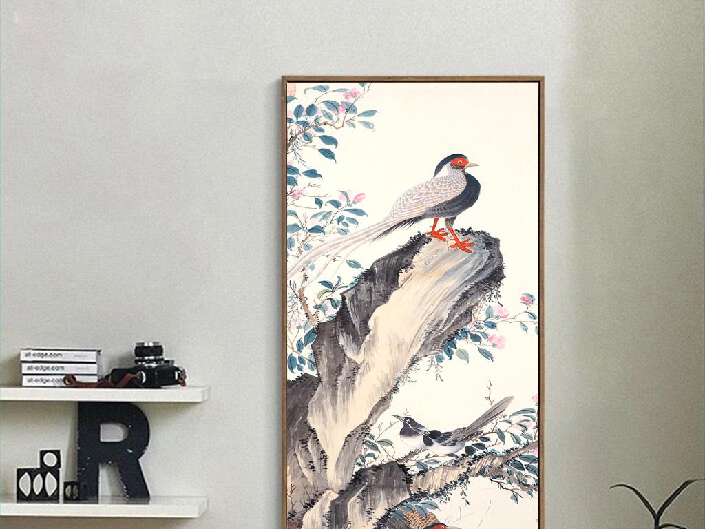新中式花鸟国画客厅装饰画图片